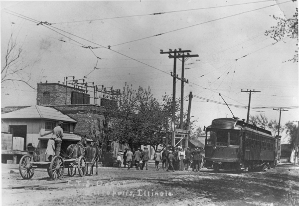 Eastbound  ITS #221 at Illiopolis in 1907