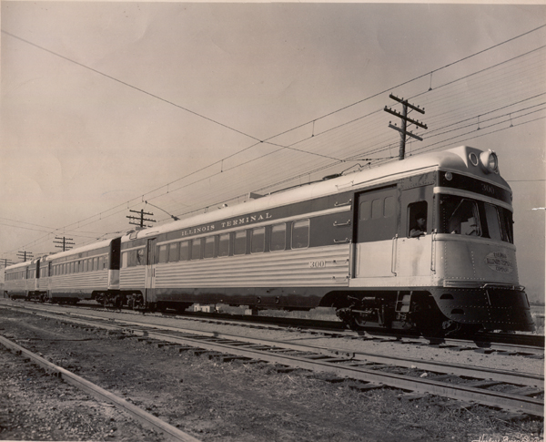 ITC Streamliner consisting of combine 300, coach 330, and parlor 350