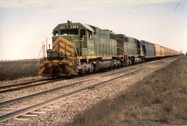 ITC Train #200 enroute to Springfield, IL via former GM&O, south of Girard, IL